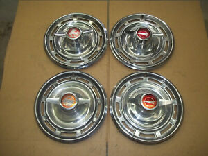 1966 66 Buick Special Hubcap Wheel Cover Hub Cap 14 Spinner Oem Used 1996 Set 4