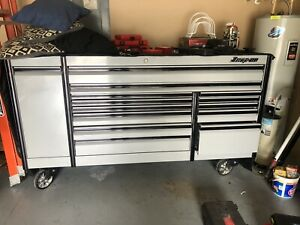 84 Snap On Epiq Series Toolbox Artic Silver And Matco Roll Cart