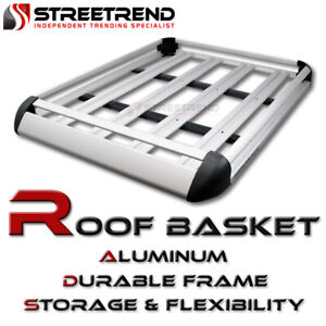 Universal 50 Silver Aluminum Roof Rack Basket Luggage Cargo Carrier Storage Sd4