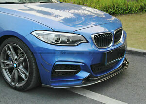Exot Style Carbon Fiber Front Bumper Canard Splitter Fins Parts For Bmw F22