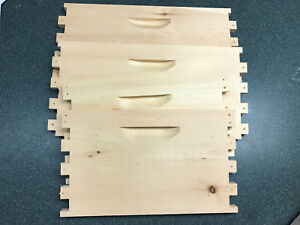 Unassembled Deep 10 Frame Super Langstroth Beehive Box Comm Pine Free Shipping