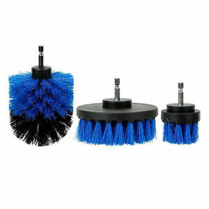 Car Wash Brush Hard Bristle Drill Auto Detailing Cleaning Tools 3pcs Set
