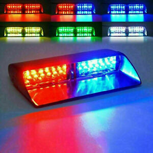 Hottest Led Red Blue Yellow Car Police Strobe Flash Light Dash Emergency Warning