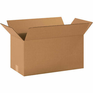 20 X 10 X 10 Long Cardboard Corrugated Boxes 65 Lbs Capacity Ect 32 Lot Of