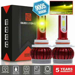 3000k 9005 Led Headlight Bulb High Beam Fog Forward Yellow Light 1800w 45000lm