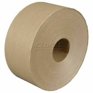Reinforced Water Activated Tape 3 X 450 6 Mil Kraft 10 Pack Lot Of 10