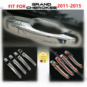 Chrome Door Handle Cover For 11 2012 2013 2014 2015 Jeep Patriot Grand Cherokee