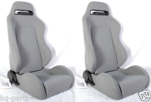 New 1 Pair Gray Micro Cloth Racing Seats Sliders All Ford E