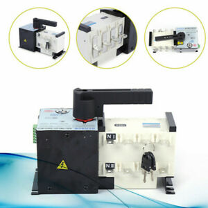 Automatic Dual Power Transfer Switch 100a 4p F Generator Changeover Switch 400v