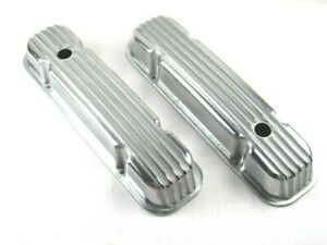 Pontiac 350 400 455 Finned Tall Aluminum Valve Covers Polished Bpe 2255