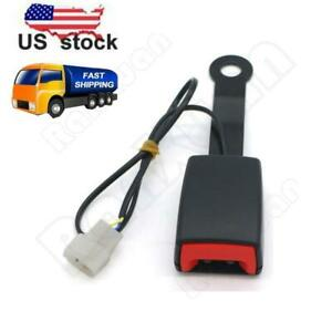 7 8 Camlock Car Front Seat Belt Buckle Socket Plug Connector W Warning Cable