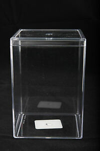Clear Plastic Acrylic Display Case 3 X 3 X 5 Cosmetic Blemishes