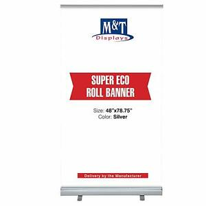 Retractable Banner Stand Portable Display Travel Banner 48x78 75 Carrying Bag
