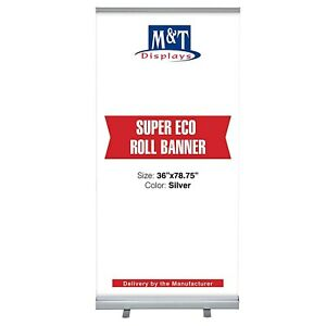 Retractable Banner Stand Super Roll Up Display Aluminum 36 X 78 75