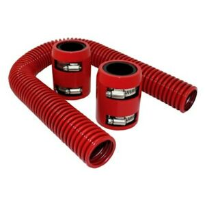 Universal 24 In Red Stainless Steel Radiator Hose