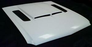 1964 1965 1966 Mustang Shelby type Hood With Carbon Fiber Vents Gt rs Hood
