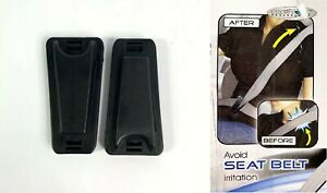 2 Seat Belt Clips Comfort Adjuster No Neck Tension Of The Seatbelt Car Auto