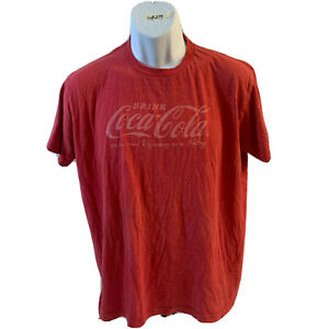 Coca Cola Shirt Vintage Logo Distressed Design Red Sz L Drink Coke Classic Tee