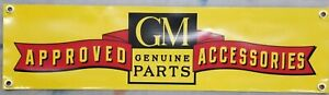 Vintage Gm Approved Accessories Logo Vinyl Banner Bundled With Chevy Decals