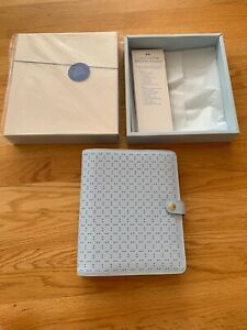 Brand New Kikki K Large Personal Planner Agenda Book Ice Blue Saffiano Leather