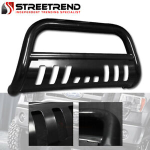 For 05 07 Jeep Grand Cherokee 06 10 Commander Bull Bar Bumper Grille Guard Black