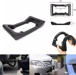 Front Bumper Guard Shockproof Flexible Car License Plate Frame Cover 14 Inches