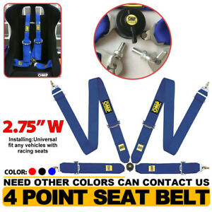 1pcs Universal Blue 4 Point Camlock Quick Release Racing Car Seat Belt Harness