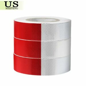 2 x150 164 Dot c2 Reflective Conspicuity Tape Safety Trailer Truck 6 red white