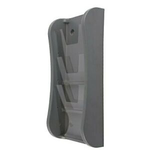 Literature Rack Wall Mounting Clear Pet Pockets 3 X 8 5 X 11 Gray