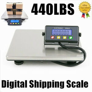 440lbs X 0 1lb Usps Digital Shipping Postal Electronic Scale 200kg With Adapter