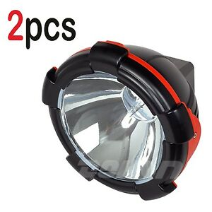 2pcs 9inch 55w 12v Flood Beam Hid Xenon Work Light For Suv Car Offroad Bus Truck