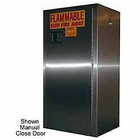 16 gallon Sliding Door Flammable Cabinet Stainless Steel