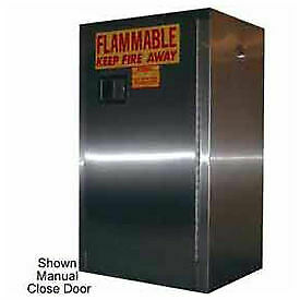 12 gallon Sliding Door Flammable Cabinet Stainless Steel
