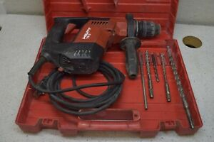 Hilti Te 5 Rotary Hammer Drill With 4 Used Bits Case Masonry Tools