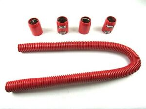 48 Universal Chevy ford Stainless Steel Radiator Hose Kit Red Bpk 6204r