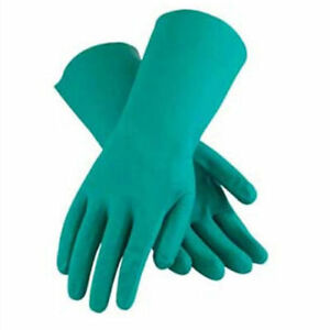 Unlined Unsupported Nitrile Gloves 15 Mil Green Xl 1 Pair Lot Of 12