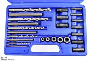 25pc Screw Extractor Easy Out Drill Guide Set Broken Screws Bolts Remover New