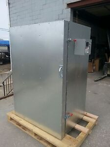 New Powder Coating Batch Oven 2x4x5 With 2 shelves And A Circulation Fan
