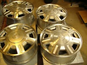 4 cadillac Deville 2003 2004 2005 16 Factory Oem Wheels Silver Good Cond