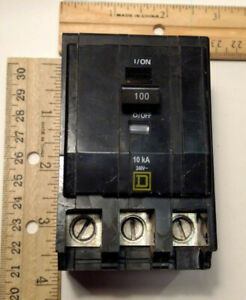 Square D Qob3100 3 Pole 100 A Circuit Breaker 240 V Bolt In