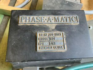 Phase a matic R7 Phase Converter 7 5hp