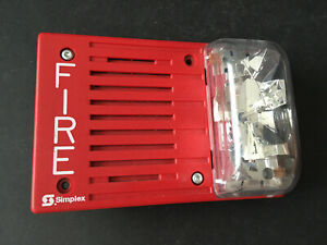 Simplex 4903 9401 Fire Alarm Horn strobe Wall Red