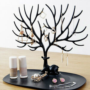 Jewelry Necklace Earring Tree Display Hanger Rack Stand Ring Organizer Holder