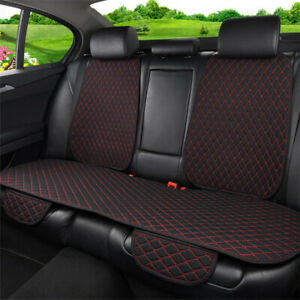 Flax Car Seat Cover Protector Rear Seat Back Cushion Pad Black red Universal 1x