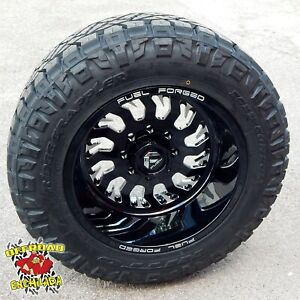 20x12 Black Fuel Forged Ff43 Wheels Rims 35 Nitto Ridge Grappler Tires Ford F250