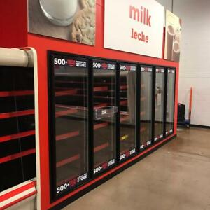 Hill Phoenix Walk In Cooler 14 W X 18 L X 10 Tall With 6 Glass Reach In Doors