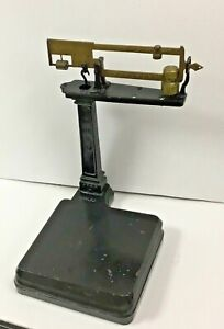 Rare Vintage Antique Howe Scale 5058 Table Counter Cast Iron Brass