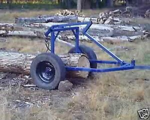 Plans For A Log Arch skidding Cart For Atv 4 Wheeler Small Tractor