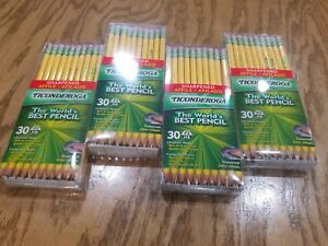 4 Dixon Ticonderoga 2 Sharpened Pencils Boxes Of 30 Pencils Each 13830