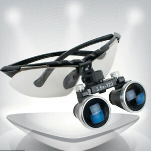 Dentist Dental Surgical Medical Binocular Loupes 3 5x320mm Optical Glass